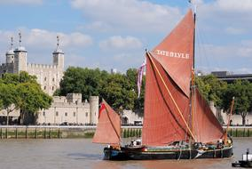 Tower Of London and Sailing Barge