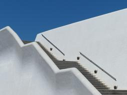 staircase on the facade of the congress hall in tenerife