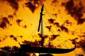 Argo Ship orange sky