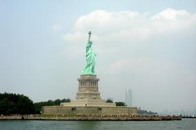 Statue Of Liberty Freedom green