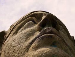 Sphinx face History stone