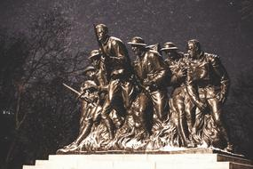Monument Soldiers New York bronze