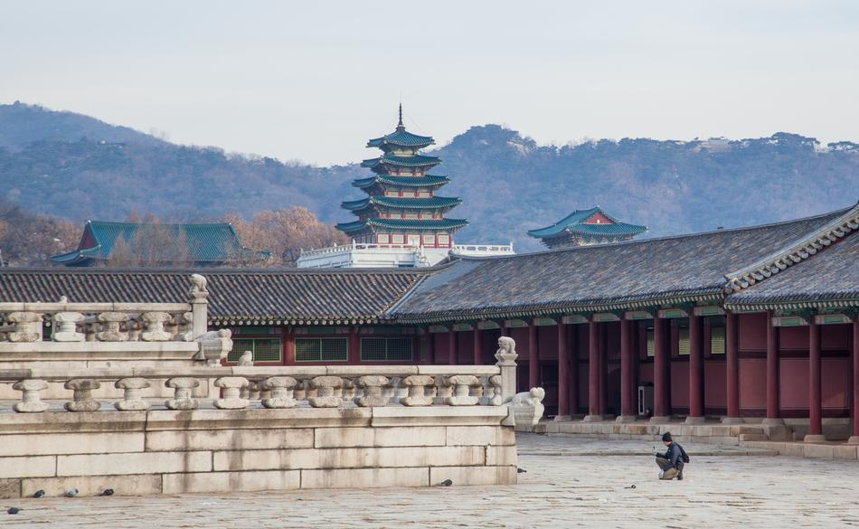 famous South Korea Palace Traditional
