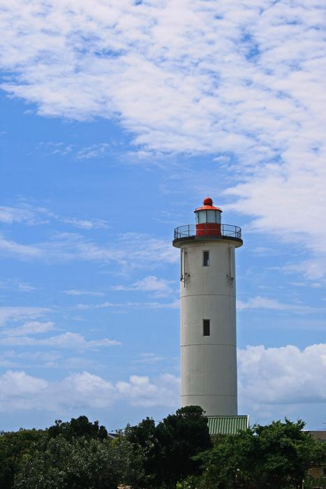 Lighthouse White Tall blue sky