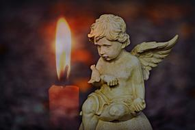 Angel Cherub and candle