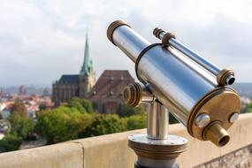 binoculars on the observation deck in Erfurt