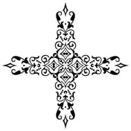 isolated ornamental cross