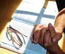 Prayer Bible Pray hands