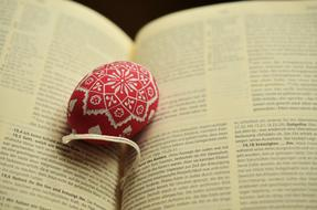 Easter Egg red and Christian text