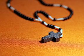 Rosary Prayer Faith orange background