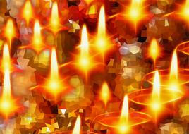 christmas candles bright advent drawing