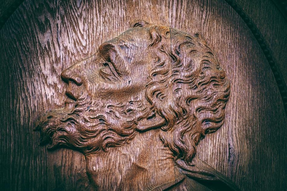 Jesus Wood Face art
