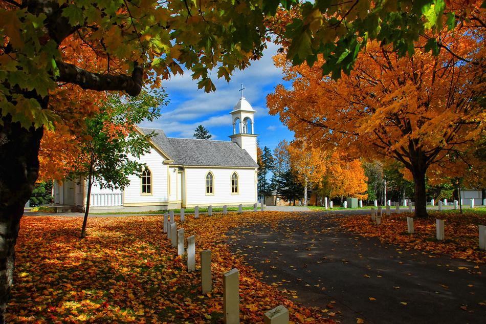 ravishing Autumn Church
