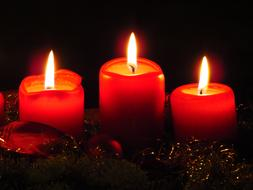 Advent Wreath Candles red
