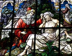 Window Stained Glass samaritans