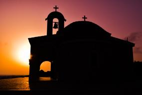 Cyprus Ayia Napa Sunset church