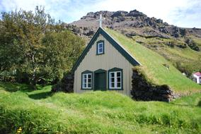 Iceland Church wood