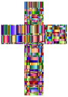 colorful prismatic chromatic cross