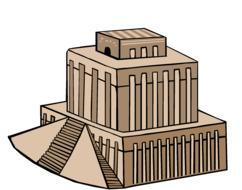 temple ziggurat babylon drawing