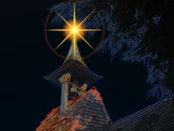 steeple bell tower advent star