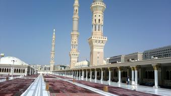 Madina Mosque Muslims white