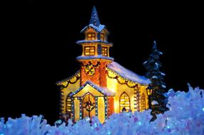 Background Candle chapel Card christmas