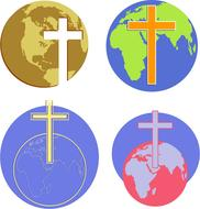 christianity religion world icon drawing