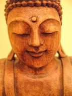 Buddha Statue wood face