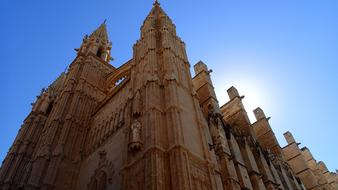 Palma Cathedral blue sky