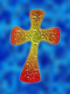 christianity religion cross red yellow