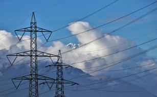 electric cables in mountains