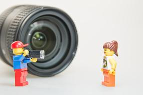 Lens Photographer and lego