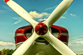 Propeller of vintage Aircraft close up
