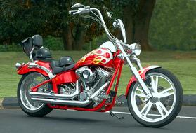 Motorcycle Chopper red