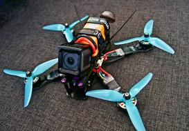 drone with a camera and four propellers