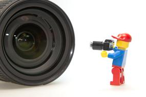 Photographer Lens and Lego man