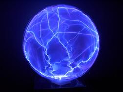 electric blue ball