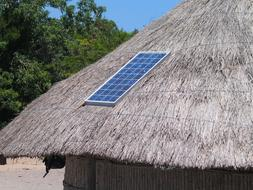 Solar Panel on Straw Roof