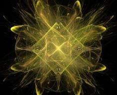 fractal abstract yellow design drawing