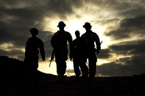 silhouettes of solders