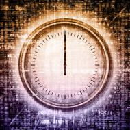 abstract gauge at grunge background