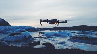 Drone Camera Ice iceland