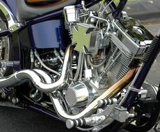 Motorcycle Chrome chopper