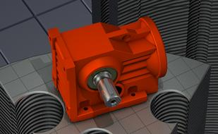 3 d image of a red engine