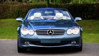 luxury mercedes with white leather interior
