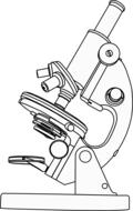 drawn microscope in a coloring book