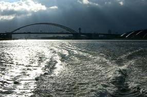 Rhine River and Bridge