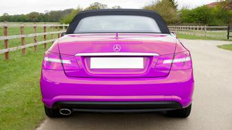 violet Mercedes Car Luxury