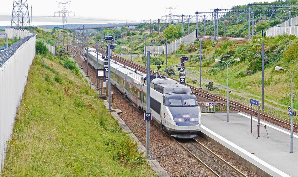 high speed train in train