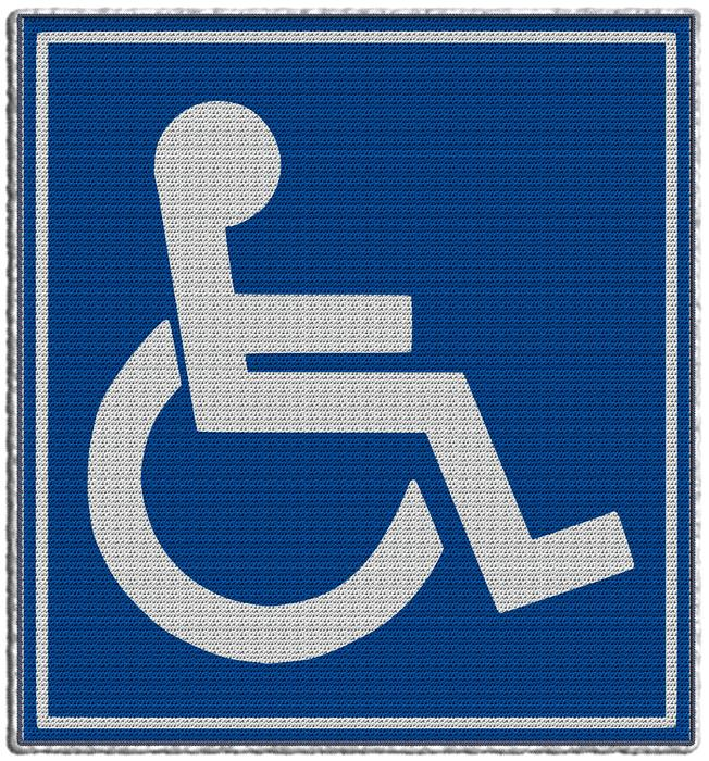 wheelchair disabled sign drawing